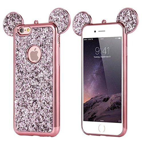 d8aff08b669 iPhone 5s Phone Funda,cartoon Cute Mouse Ears Luxury Bling G - $ 820 ...