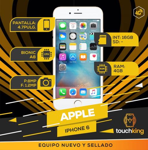 iphone 6 16gb 4g lte libre fabrica sellado nuevo - gris