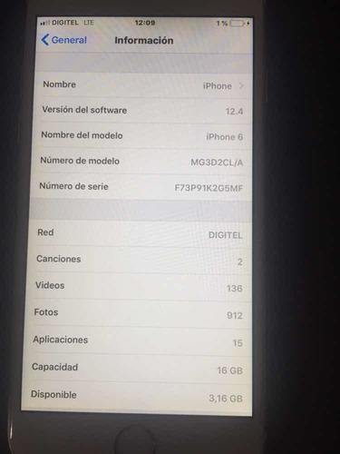 iphone 6 16gb para repuesto