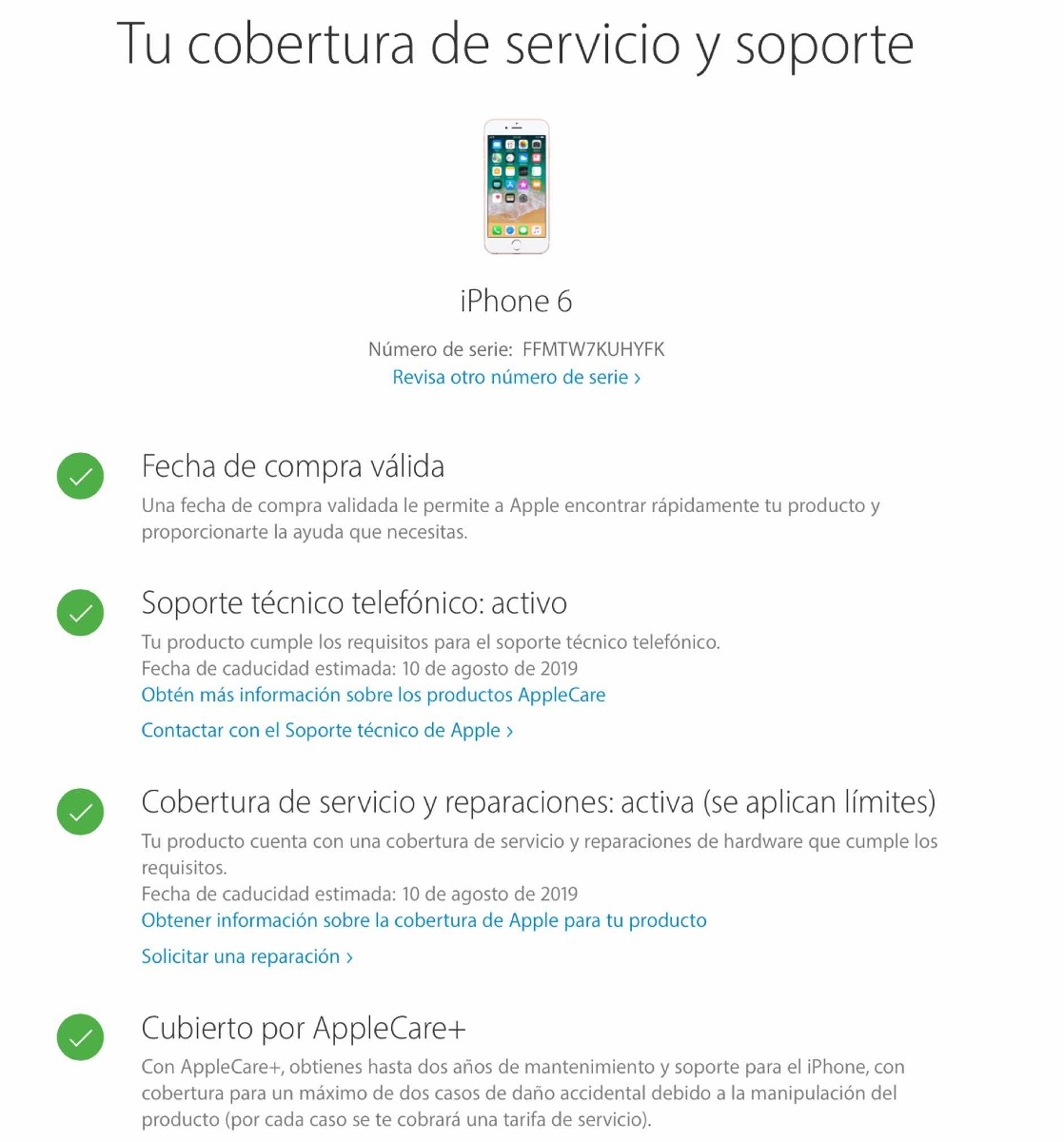 Iphone 6 32gb Apple Care 6 400 00 En Mercado Libre