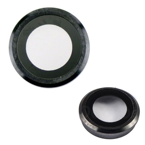 iphone 6 6g 6s cubierta lente cristal camara trasera negro