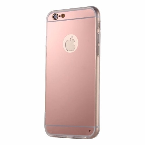 iphone 6 & 6s funda protectora de tpu con placa espejo