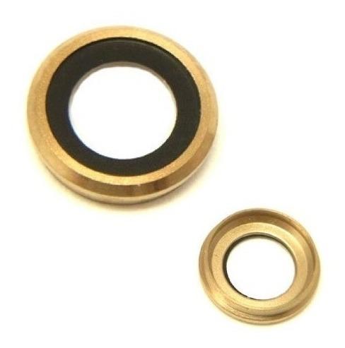 iphone 6 6s plus cubierta camara trasera lente cristal dorad