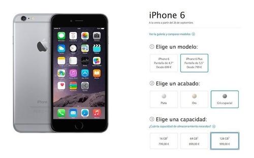 iphone 6 apple 16gb 4g liberado refurbished sin accesorios