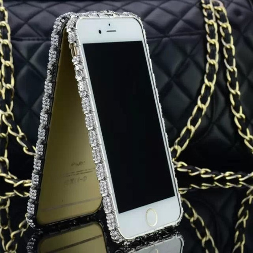 iphone 6 bumper protector fashion serpiente flor de diamante