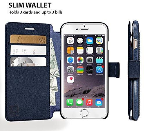 iphone 6, caja de la carpeta 6s, durable y delgado, ligero c
