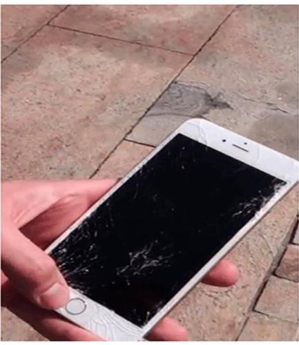 iphone 6 con pantalla quebrada