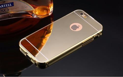 iphone 6 funda protector bumper aluminio case tipo espejo