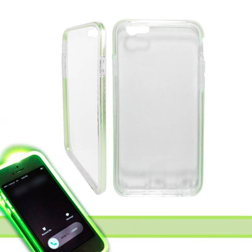 iphone 6 funda tpu flashing led light case verde brillante