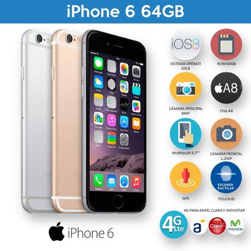 iphone 6 original 64gb 4g inmaculados sin detalles