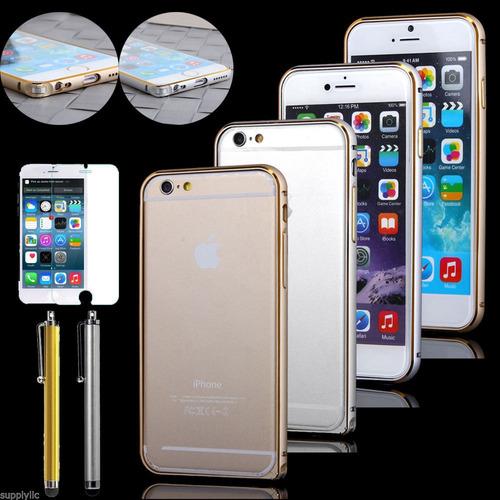 iphone 6 plus 6s plus bizel metal aluminio  +stylus