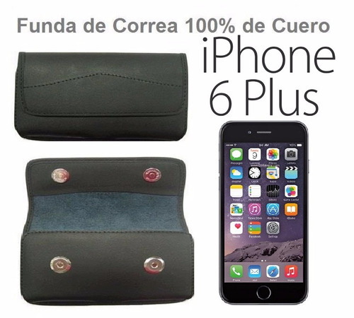 iphone 6 plus funda cover tipo sobre de cuero para la correa