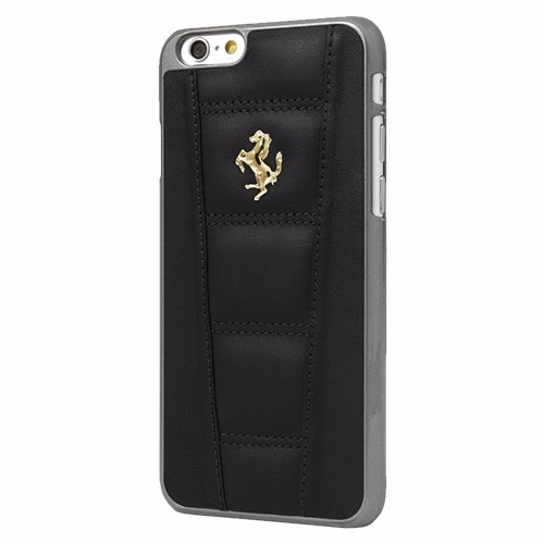 iphone 6 plus funda trasera ferrari leather negro en mercado libre. Black Bedroom Furniture Sets. Home Design Ideas