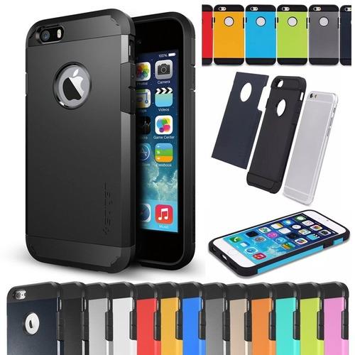 iphone 6 plus protector estuche carcaza spigen armor+screen
