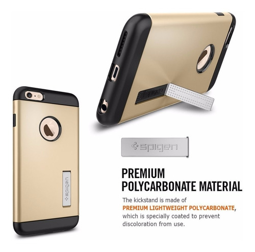 iphone 6 plus protector spigen slim armor - champagne gold