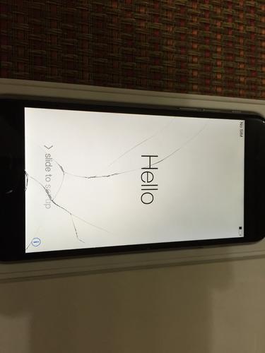 iphone 6 space gray 16gb mg tela trincada perfeito/funcional