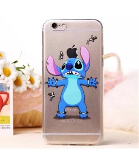 iphone 6 tpu ultrafino silicona protector stich mario bross