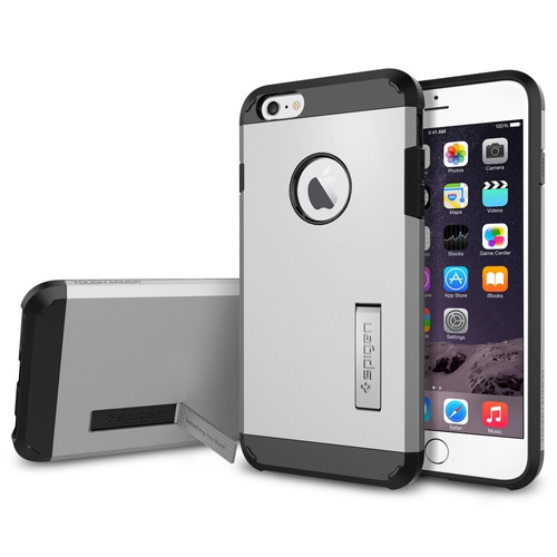 iphone 6/6s protector estuche carcaza spigen armor + screen