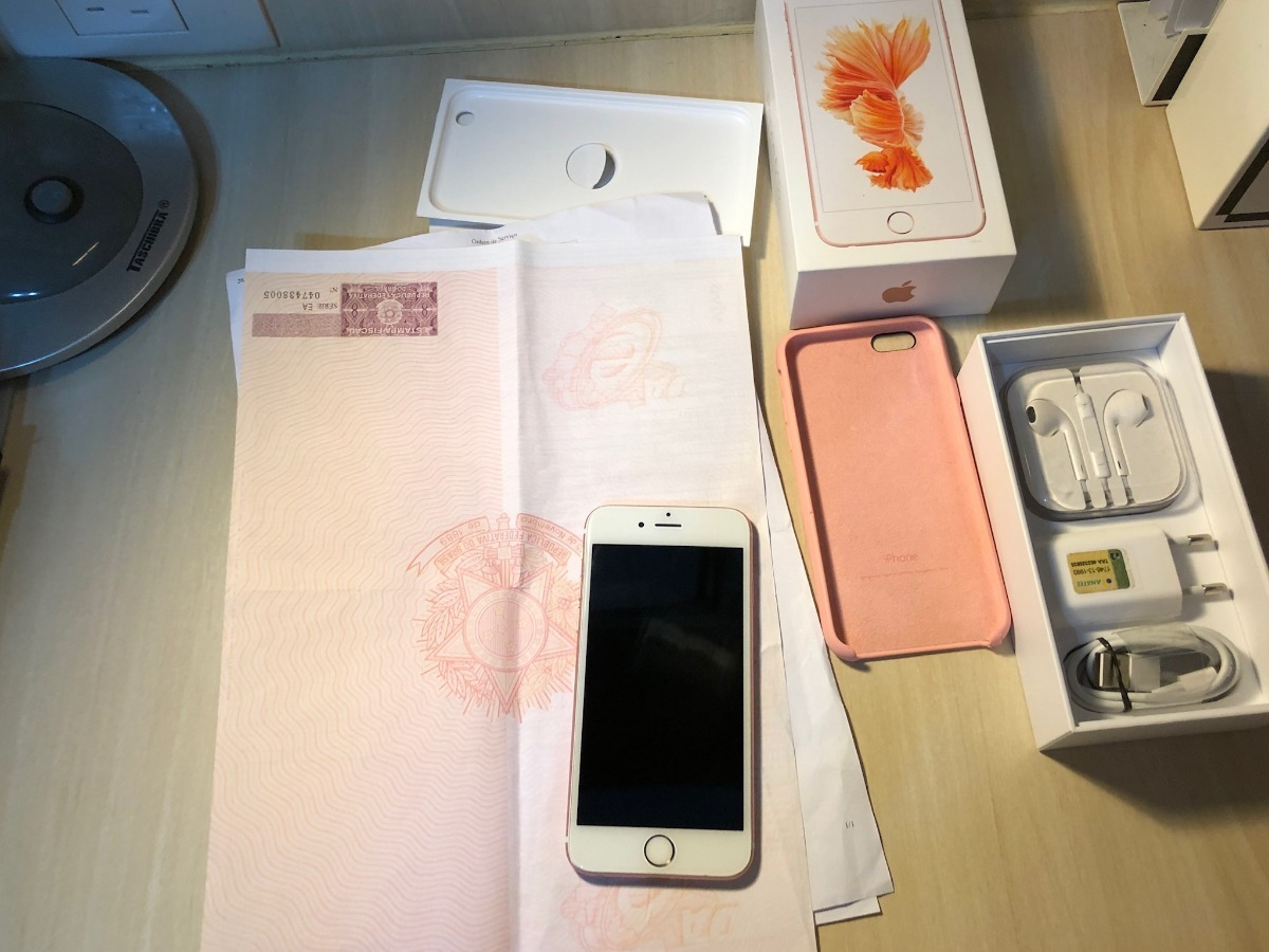 662e73c41 iphone 6s 64gb rose gold completo+ nf+ capa. leia! Carregando zoom.