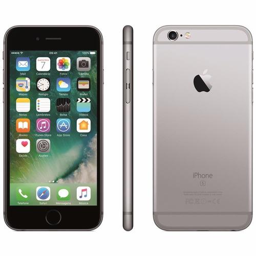 iphone 6s apple 16gb tela 4,7 cinza espcial+ chip tim grátis