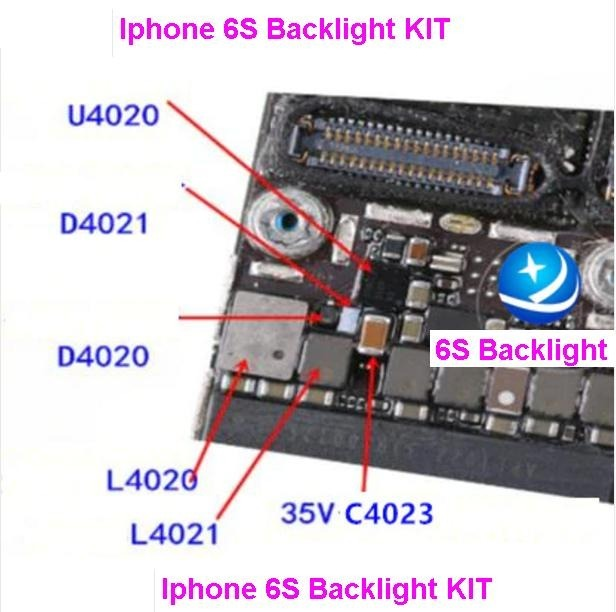 the best attitude 85430 6b908 iPhone 6s Backlight Ic U4020 +coil L4020 L4021 +diode D4020
