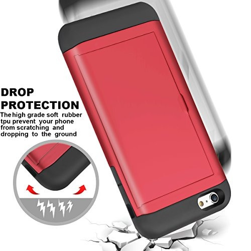 iphone 6s caso, iphone 6 caso, samonpow híbrido iphone 6 car