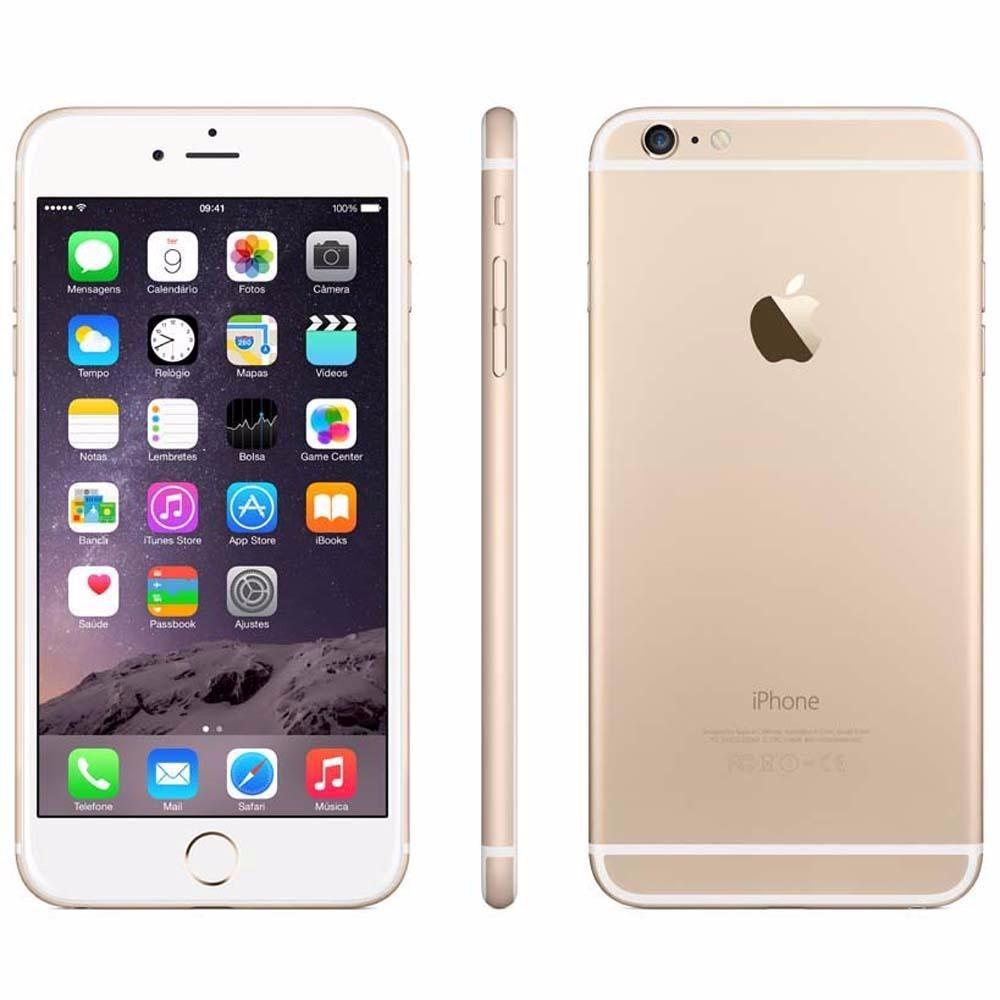 iphone 6s plus apple 16gb tela 5 5 hd 3d touch ios 9 dourado r em mercado livre. Black Bedroom Furniture Sets. Home Design Ideas