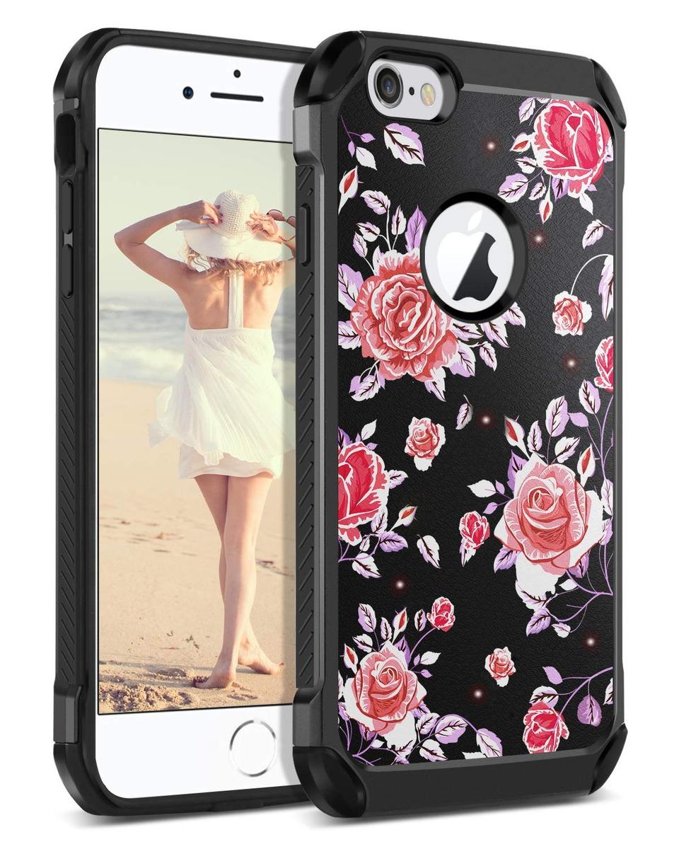 26a2c828485 iPhone 6s-plus Funda iPhone 6-plus Funda Guagua Rose Floral ...