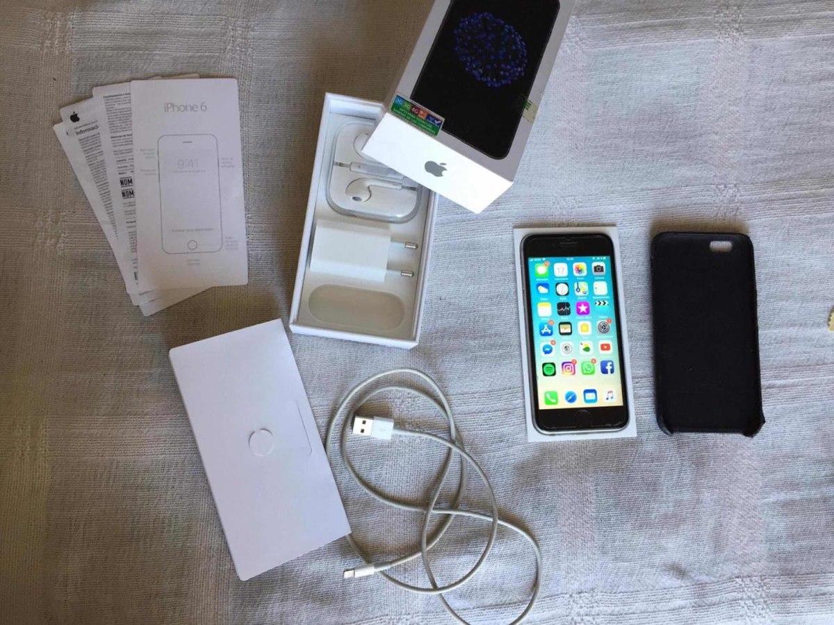 e7725b6feaf iPhone 6s Space Gray 64gb Liberado, En Caja Y Sus Accesorios ...