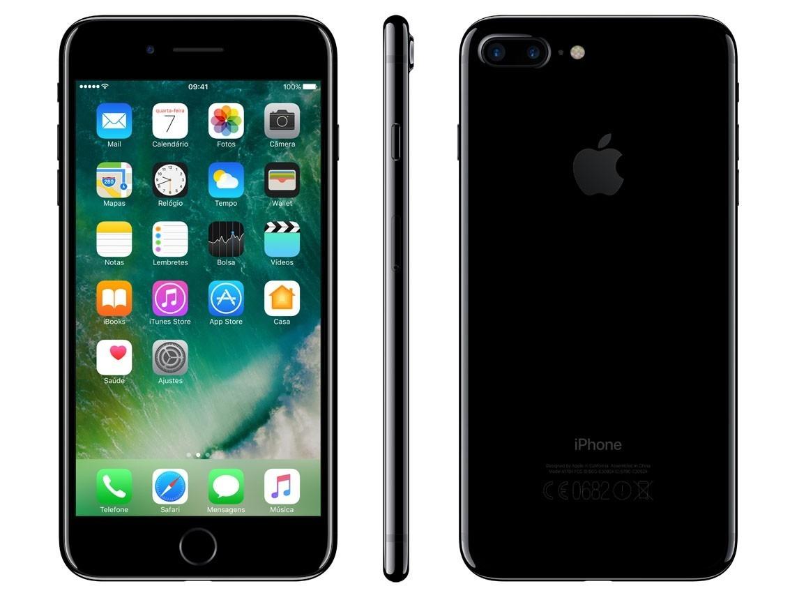 7c77a018fab iphone 7 128gb anatel lacrado 1 ano garantia apple preto. Carregando zoom.