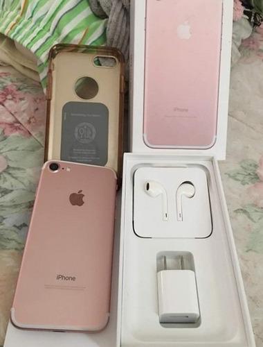iphone 7 128gb rosado liberado / usado 10/10