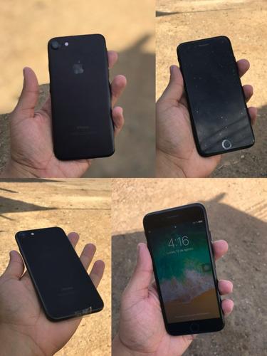 iphone 7 32gb negro mate + vidrio templado (270)