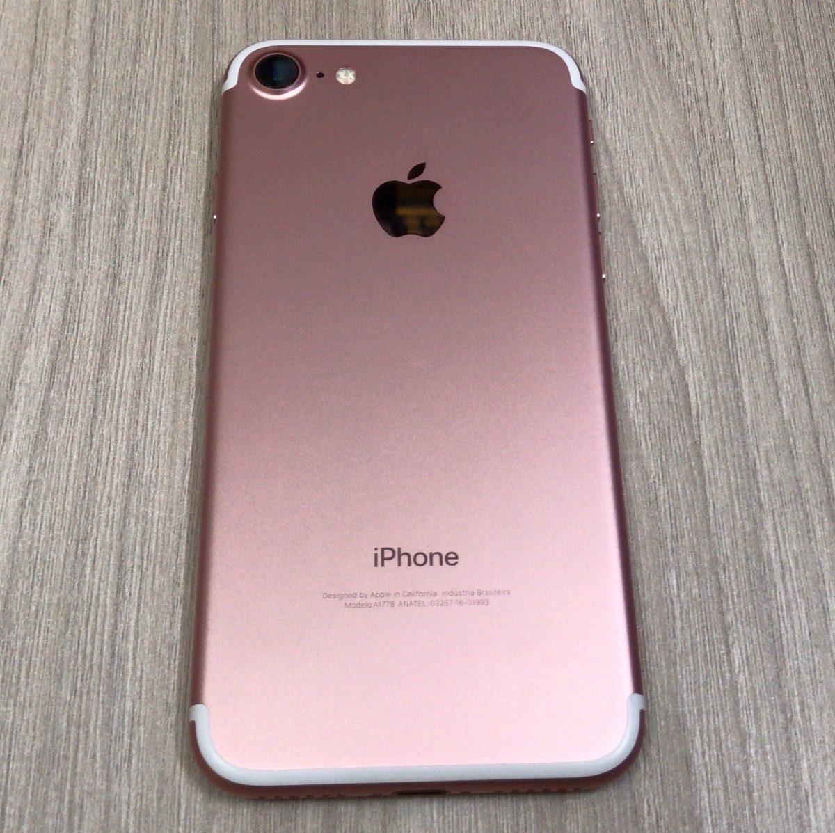 pretty nice b0844 d7cae iPhone 7 32gb Rose Gold Apple Libre Usado Conservado Tienda - S/ 1.199,90