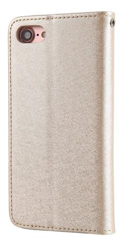iphone 7 / 7p / 8 / 8p caja de cuero titular de tarjeta de t