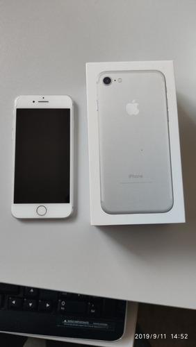 iphone 7 apple 32gb c/ carregador, fone e capinha - usado