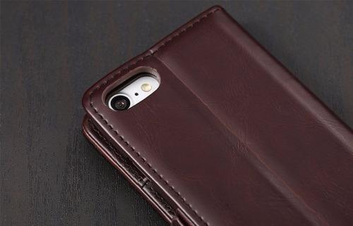 iphone 7: case de lujo en cuero pu  tipo billetera