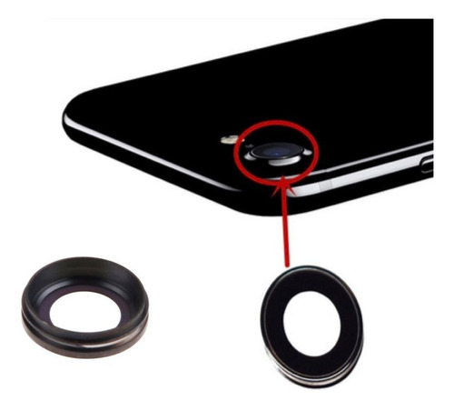 iphone 7 cubierta camara trasera lente cristal refaccion