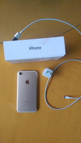 iphone 7 gold de 32gb impecable!