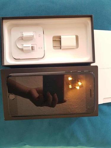 iphone 7 plus 128 gb jet black como nuevo, mica de cristal n