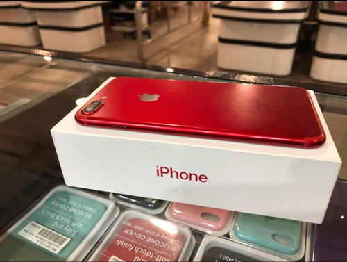 iphone 7 plus 128gb red + funda + templado