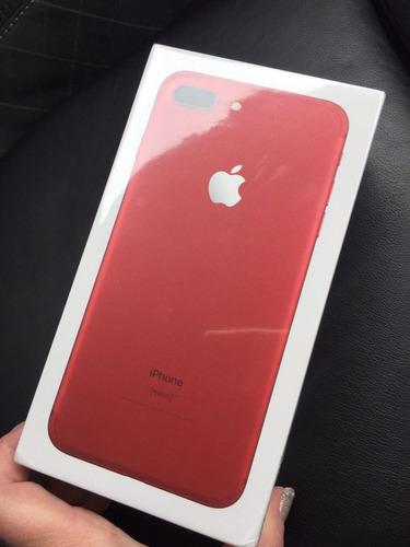 iphone 7 plus 128gb rojo + case + protector de pantalla