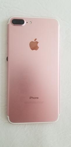 iphone 7 plus 128gb rosa-funciona-pantalla rota-no permito