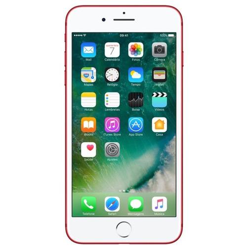 iphone 7 plus 128gb vermelho excelente seminovo c/garantia