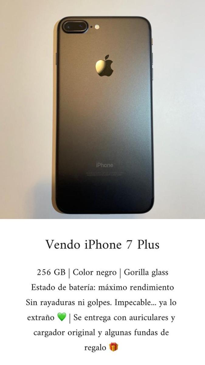 bd508ac076a iphone 7 plus 256 gb negro usado como nuevo 6 cuotas sin int. Cargando zoom.