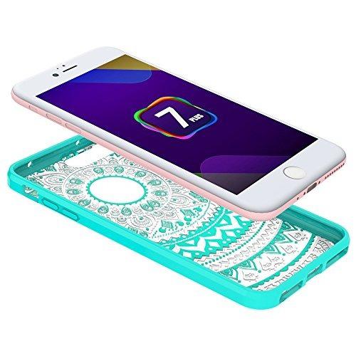 iphone 7 plus 5,5 ' case - funda protectora del híbrido anw