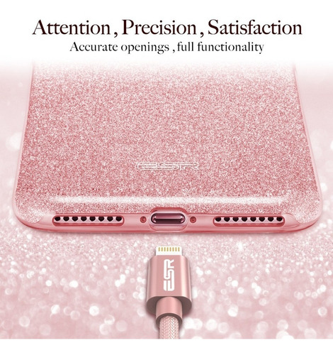iphone 7 plus / 8 plus carcasa silicona brillos esr | kyrios