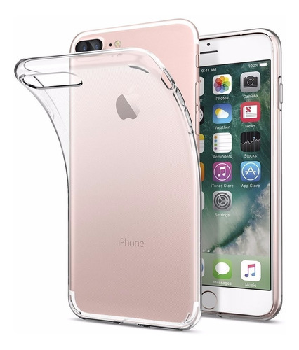 iphone 7 plus funda 100% transparente case forro protector