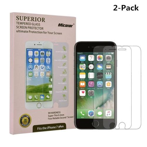iphone 7 plus protector de pantalla de vidrio + envio gratis