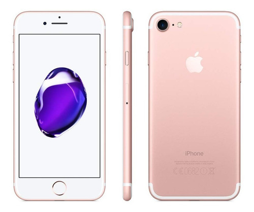 iphone 7 rosa y plata 32gb cargador + cristal templado