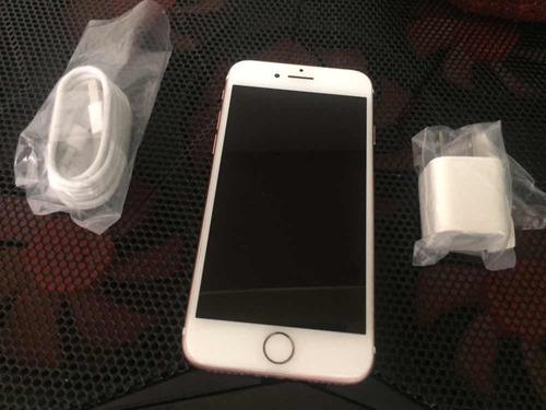 iphone 7 rose gold (rosado) 32gb.liberado. 1 mes de uso(310)
